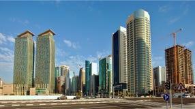 Финансовый район Dafna в Дохе стоковая фотография