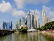 финансовый район singapore Стоковые Изображения RF
