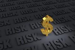 Финансовый риск везде Стоковое фото RF