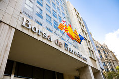 финансовый рынок barcelona Стоковое Изображение