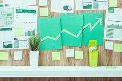 Финансовый успех и зеленое дело Стоковое Изображение RF
