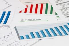 Финансовый успех с диаграммами Стоковые Изображения RF