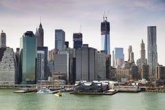Финансовый центр Манхаттана, Нью-Йорк Стоковые Изображения RF