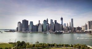 Финансовый центр Манхаттана, Нью-Йорк Стоковое фото RF