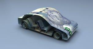 Финансы автомобиля с южно-африканским рандом иллюстрация штока