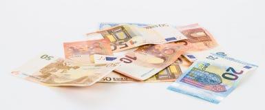 Финансы валюты счетов евро денег Стоковая Фотография