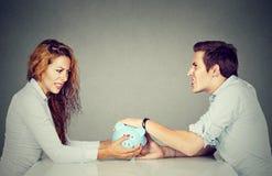 Финансы в разводе Супруг жены не может сделать поселение Стоковая Фотография RF