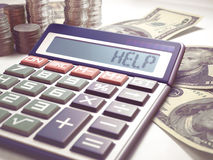 Финансы дела вычисления помощи Стоковое фото RF