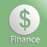 Финансы значка иллюстрация штока