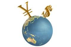 финансы принципиальной схемы гловальные Стоковая Фотография RF