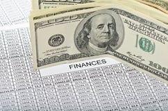 финансы принципиальной схемы Стоковая Фотография RF