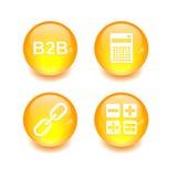 Финансы сети интернета 3D значка кнопки установленные Стоковое Фото