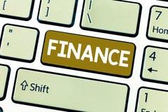 Финансы текста сочинительства слова Концепция дела для управления большого количества денег компаний правительства обеспечивает ф стоковое фото rf