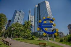 Финансы Франкфурта стоковое фото