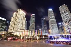 Финансы Шанхая Lujiazui & ландшафт зданий города урбанский Стоковые Изображения RF