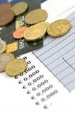 финансы экономии dof принципиальной схемы отмелые Стоковые Фото