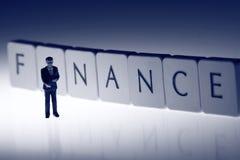 Финансы b бизнесмена Стоковое Фото