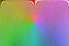 Фингерпринт абстрактной радуги неизвестный, изогнутая линия куча, Стоковая Фотография RF
