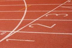 финишная черта беговая дорожка Стоковое Фото