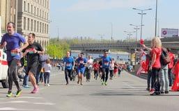 Финишная черта марафона Стоковые Изображения