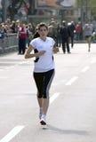 финишная черта около бегунка Стоковая Фотография RF