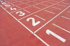 Финишная черта спринта без людей Стоковое Изображение
