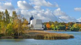 Финская национальная опера в центре Хельсинки стоковая фотография