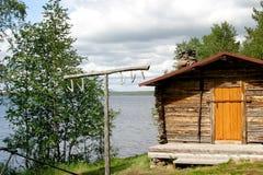 финская хата рыбозавода старая Стоковые Фото