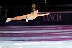 Финский конькобежец льда Лаура Lepisto Стоковые Изображения