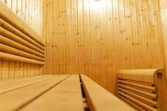финский нутряной sauna классицистический sauna деревянный Финская ванная комната Деревянная кабина сауны Деревянная комната Пар с Стоковые Фотографии RF