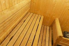 финский нутряной sauna классицистический sauna деревянный Финская ванная комната Деревянная кабина сауны Деревянная комната Пар с Стоковые Изображения RF