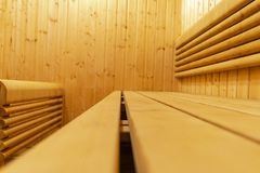 финский нутряной sauna классицистический sauna деревянный Финская ванная комната Деревянная кабина сауны Деревянная комната Пар с Стоковые Изображения