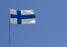 финский флаг Стоковое Изображение RF