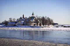 Финляндия: Зима в Хельсинки Стоковое Изображение