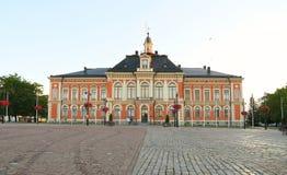 Финляндия, Куопио: Здание муниципалитет Стоковые Фото