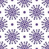 Фиолетовая абстрактная безшовная картина с кругом Стоковая Фотография