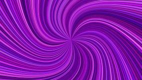 Фиолетовая абстрактная гипнотическая спиральная предпосылка нашивки луча Стоковое фото RF
