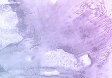 Фиолетовая абстрактная предпосылка краски руки акварели, иллюстрация растра Иллюстрация штока