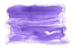 Фиолетовая абстрактная предпосылка текстуры акварели стоковое изображение rf