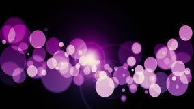 Фиолетовая абстрактная предпосылка bokeh реальные частицки пыли с реальными вспыхивающими звездами объектива света яркого блеска  стоковые фото