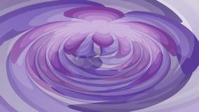 Фиолетовая абстрактная фантазия, видео- анимация с двигать темный и светлый - формы пурпура округленные, бесконечное видео в tran иллюстрация вектора