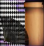 Фиолетовая белая предпосылка с вентилятором Стоковое Изображение RF