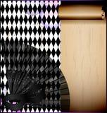 Фиолетовая белизна с маской и вентилятором Стоковое Изображение
