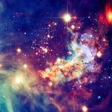 Фиолетовая галактика в космическом пространстве Элементы этого изображения поставленные NASA стоковое изображение