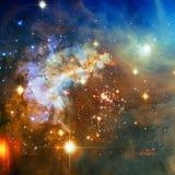 Фиолетовая галактика в космическом пространстве Элементы этого изображения поставленные NASA стоковое изображение rf
