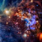 Фиолетовая галактика в космическом пространстве Элементы этого изображения поставленные NASA стоковое фото