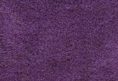 Фиолетовая двойная, который встали на сторону предпосылка текстуры ткани Terry towelling Стоковое Изображение RF