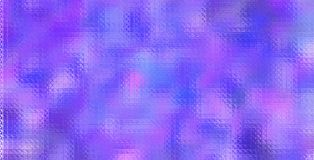 Фиолетовая и голубая красочная мозаика через иллюстрацию предпосылки стеклянных кирпичей стоковое изображение