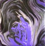 Фиолетовая и серебряная акриловая картина Стоковое Фото