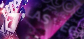 Фиолетовая концепция знамени казино Стоковое Изображение